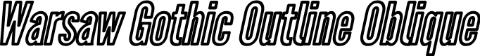 Preview image for Warsaw Gothic Outline Oblique