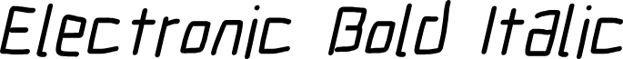 Electronic Bold Italic