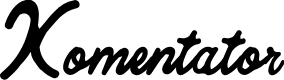 Preview image for Komentator Font