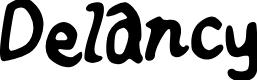 Preview image for Delancy Font