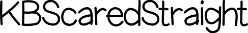KBScaredStraight font