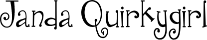 Preview image for Janda Quirkygirl Font
