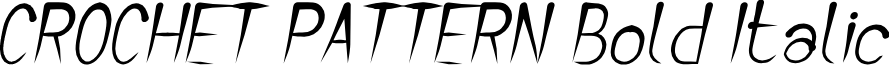 CROCHET PATTERN Bold Italic