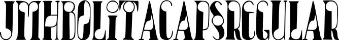 Preview image for JMHBolitaCaps-Regular Font