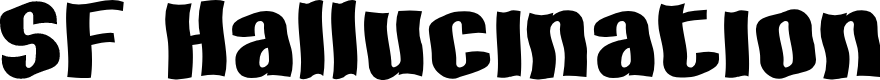 Preview image for SF Hallucination Font