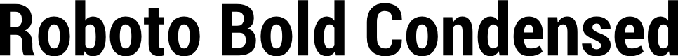 Preview image for Roboto Bold Condensed