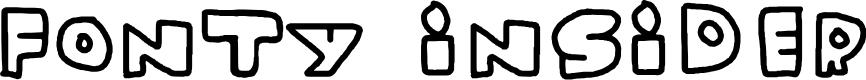 Preview image for Fonty Insider Font