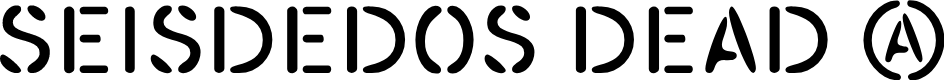 Preview image for SEISDEDOS DEAD Regular Font