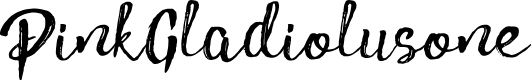 Preview image for PinkGladiolusone Font