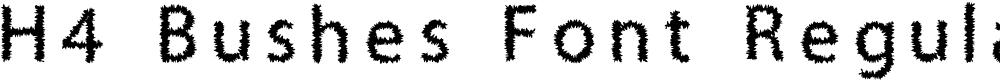Preview image for H4 Bushes Font Regular Font