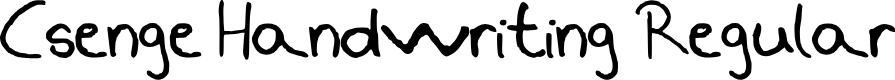 Preview image for Csenge Handwriting Regular Font