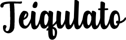 Preview image for Teiqulato Free Regular Font