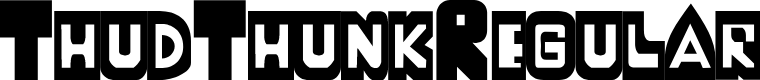 Preview image for ThudThunk-Regular Font