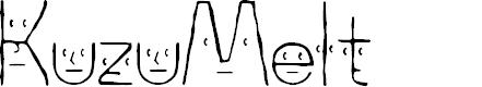 Preview image for KuzuMelt Light Font