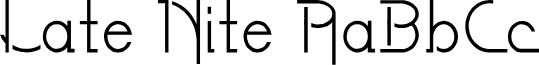 LateNite font