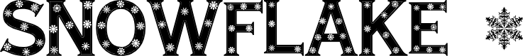 Preview image for Snowflake Letters Font