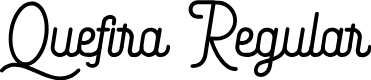 Preview image for Quefira Regular Font