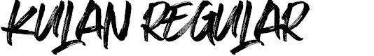 Preview image for Kulan Regular Font