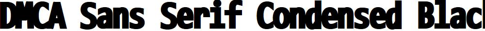 DMCA Sans Serif Condensed Black