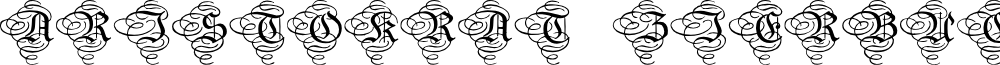 AristokratZierbuchstaben font