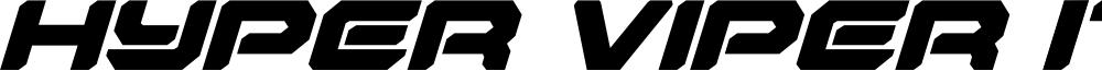 Hyper Viper Italic