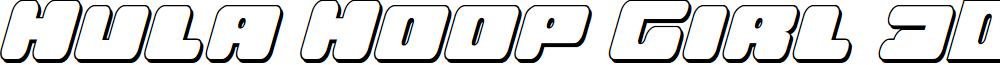 Hula Hoop Girl 3D Italic