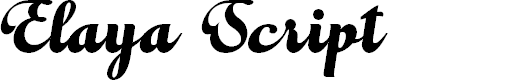 Preview image for Elaya Script PERSONAL USE ONLY Font