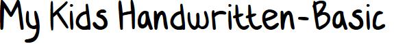 My Kids Handwritten-Basic font