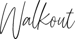 Preview image for Walkout Font