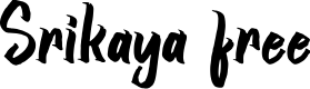 Preview image for Srikaya free Font