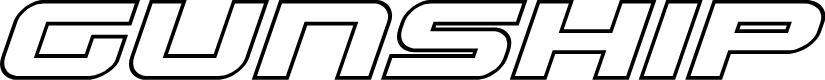 Preview image for Gunship Outline Italic Outline Italic