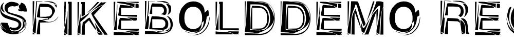 Preview image for Spikebold_demo Regular Font