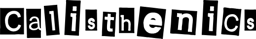 Preview image for Calisthenics Font