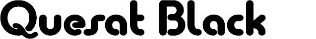 Preview image for Quesat Black Demo Font