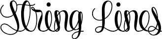 Preview image for String Lines PERSONAL USE ONLY Font