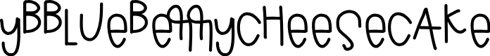 Preview image for YBBlueberryCheesecake Font