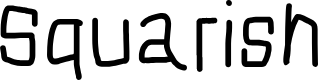 Preview image for Squarish Font