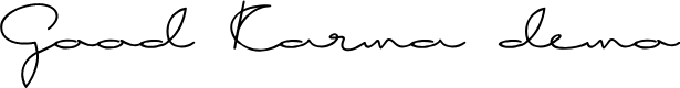 Preview image for Good Karma demo Font