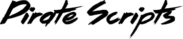 Preview image for Pirate Scripts Font