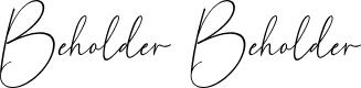 Preview image for Beholder Beholder Font