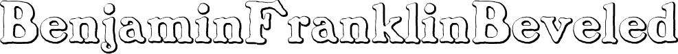 Preview image for BenjaminFranklinBeveled Font