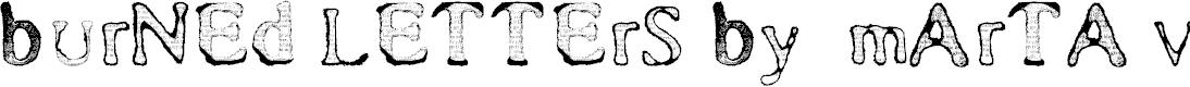 Preview image for Burned Letters by  Marta van Eck Font
