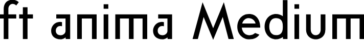 Preview image for ft anima Medium Font