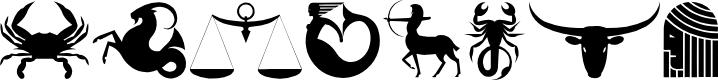 Preview image for Velezodiac Font