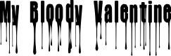 Preview image for CF My Bloody Valentine Regular Font
