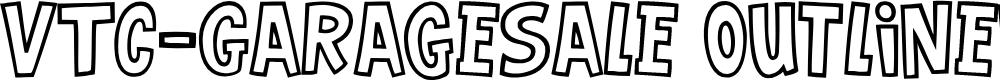 Preview image for VTC-GarageSale Outlined Font