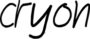 Preview image for cryon Font