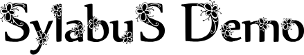 Preview image for Sylabus Demo Font