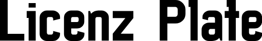 Preview image for Licenz Plate Font