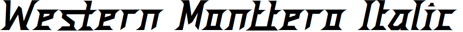 Western Monttero Italic